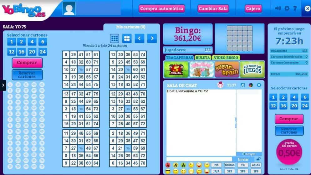 ¿Cómo jugar al bingo online de 75 bolas?